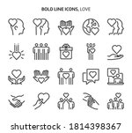 love  bold line icons. the... | Shutterstock .eps vector #1814398367