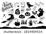 collection of halloween...   Shutterstock .eps vector #1814404514