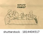 family at the table vector... | Shutterstock .eps vector #1814404517