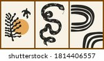 set of three abstract... | Shutterstock .eps vector #1814406557
