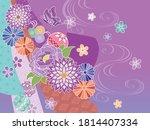 gorgeous japanese style...   Shutterstock .eps vector #1814407334