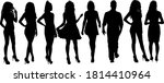 silhouette group of people... | Shutterstock .eps vector #1814410964