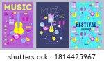 set of flyers design template... | Shutterstock .eps vector #1814425967