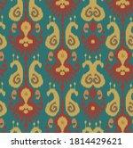 ethnic ikat chevron pattern...   Shutterstock .eps vector #1814429621