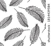 Mono Print Style Scattered...