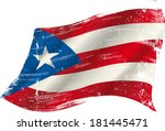 a grunge puerto rican flag in... | Shutterstock .eps vector #181445471