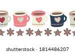 Mugs With Hot Chocolate Or Tea...
