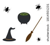 set of witches in halloween... | Shutterstock .eps vector #1814501231