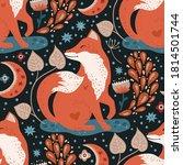 nordic scandinavian fox... | Shutterstock .eps vector #1814501744
