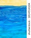 blue sea waves and sunlight....   Shutterstock . vector #1814514104