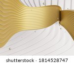 abstract white and gold wave...   Shutterstock . vector #1814528747