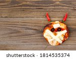 Mini Pizza As Mummy With Horns...