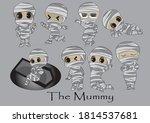 cute  mummy cartoon character... | Shutterstock .eps vector #1814537681