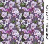 elegant floral wallpaper  ... | Shutterstock .eps vector #181454249