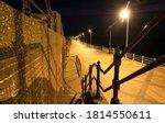 Sea Front Steps At Night