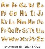 vector alphabet font   alphabet ... | Shutterstock .eps vector #181457729