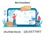 consulting online service or... | Shutterstock .eps vector #1814577497