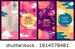 chinese background. decorative... | Shutterstock .eps vector #1814578481