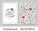 hand drawn winter holidays card.... | Shutterstock .eps vector #1814578931