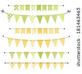 green and yellow blank banner ... | Shutterstock .eps vector #181463465