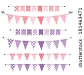 pink and purple blank banner ... | Shutterstock . vector #181463471