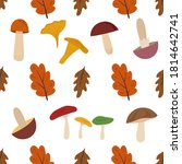 colorful autumn fall seamless... | Shutterstock .eps vector #1814642741