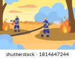 Professional Crew Of Firemen...