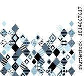 rhombus background. vector... | Shutterstock .eps vector #1814667617