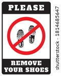remove your shoes sign. please...   Shutterstock .eps vector #1814685647