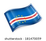cape verde flag icon  isolated... | Shutterstock . vector #181470059