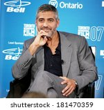 George Clooney At The Press...