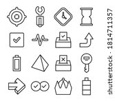 simple line icon vector... | Shutterstock .eps vector #1814711357