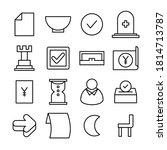 simple line icon vector... | Shutterstock .eps vector #1814713787