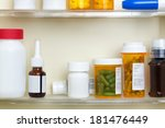 several containers of over the... | Shutterstock . vector #181476449