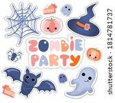 Halloween Cartoon Style Set Of...