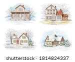 Set With Winter Christmas...