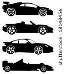 Stock vector silhouette sport cars on a white background vector illustration 18148456