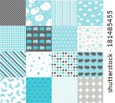 seamless patterns   digital... | Shutterstock .eps vector #181485455