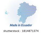 map icon of ecuador. vector... | Shutterstock .eps vector #1814871374