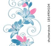 floral seamless pattern with... | Shutterstock .eps vector #1814904104