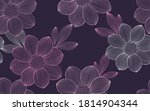 seamless pattern with flowers... | Shutterstock .eps vector #1814904344