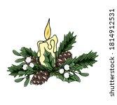 christmas vector illustration.... | Shutterstock .eps vector #1814912531