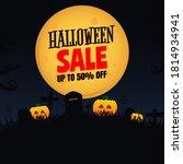 halloween sale banner and...   Shutterstock .eps vector #1814934941