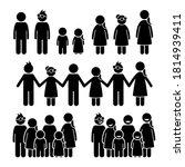 happy children together stick... | Shutterstock .eps vector #1814939411