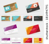 business card abstract... | Shutterstock .eps vector #181494791