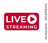 broadcast button for live... | Shutterstock .eps vector #1814958101
