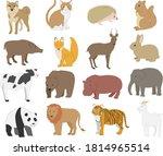 animal illustration material... | Shutterstock .eps vector #1814965514