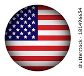 usa flag button on a white... | Shutterstock .eps vector #181496654