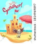 vector illustration sand castle ...   Shutterstock .eps vector #1814969897