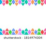 triangle colorful background... | Shutterstock .eps vector #1814974304